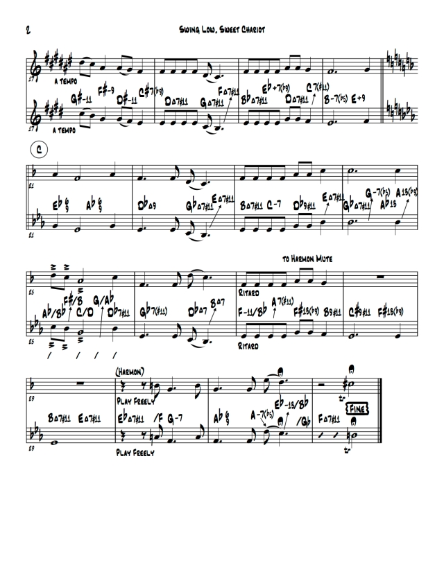 Swing Low, Sweet Chariot- Score- page 2